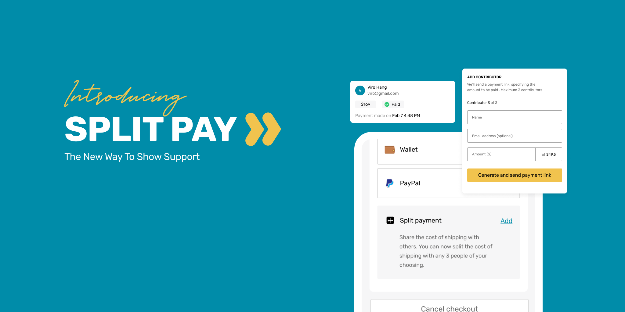 The newest way to show support - Split Payment is here
